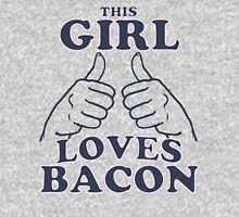 This Girl Loves Bacon Womens Fitted T-Shirt
