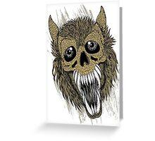 Evil Halloween Werewolf Greeting Card
