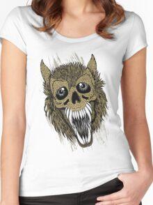 Evil Halloween Werewolf Women's Fitted Scoop T-Shirt