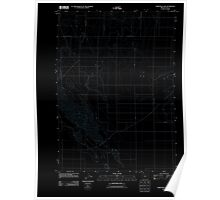 USGS Topo Map Oregon Christmas Lake 20110829 TM Inverted Poster
