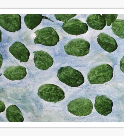 Impression Lilly Pads Sticker