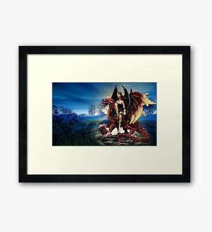 The Dragon Queen Awaits Framed Print