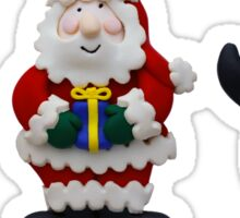 Christmas Snowman Santa and Penguin Sticker