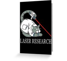 Laser Research Greeting Card