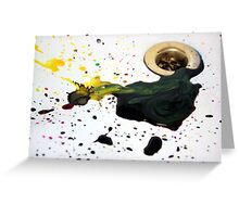 Ink splash Greeting Card