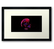 The Digital Marble on Black Framed Print