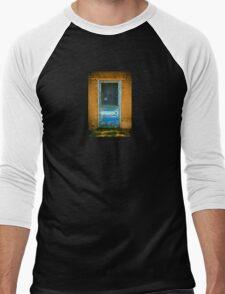 Taos Pueblo Screen Door Men's Baseball ¾ T-Shirt