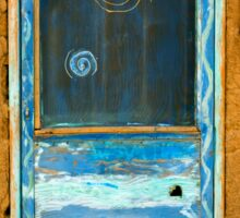 Taos Pueblo Screen Door Sticker