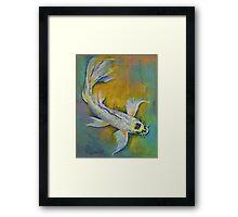 Kujaku Butterfly Koi Framed Print