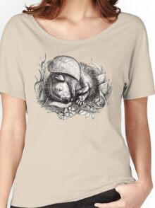 Baby hedgehog sleeping Women's Relaxed Fit T-Shirt