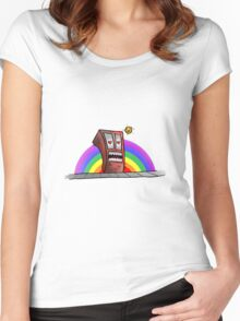 Psycho Gay... Hungry... Building... Women's Fitted Scoop T-Shirt