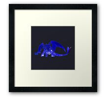 Glowing Toothless - Gray Framed Print