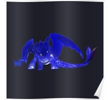 Glowing Toothless - Gray Poster