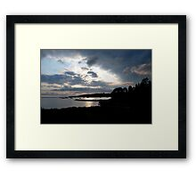 All Quiet on the Ocean Front Framed Print