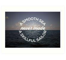 A Smooth Sea Art Print