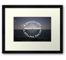 A Smooth Sea Framed Print