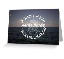 A Smooth Sea Greeting Card