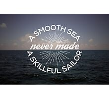 A Smooth Sea Photographic Print