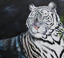 Baroda the Royal white Tiger by IlonaT