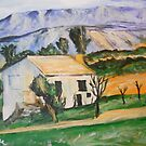 Houses In Provence Near Gardanne from P Cezanne by Jsimone