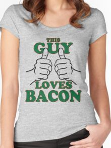 This Guy Loves Bacon Women's Fitted Scoop T-Shirt
