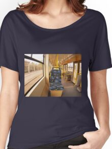 Empty tram rides through the streets Women's Relaxed Fit T-Shirt