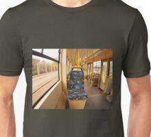 Empty tram rides through the streets Unisex T-Shirt