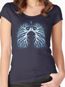 I Breathe Music Women's Fitted Scoop T-Shirt