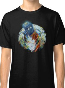 Blue Phone Booth jump into time Vortex art painting Classic T-Shirt