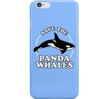 Save The Panda Whales iPhone Case/Skin