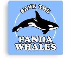 Save The Panda Whales Canvas Print