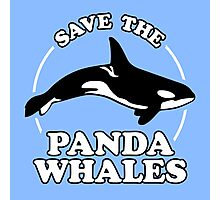 Save The Panda Whales Photographic Print
