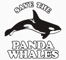 Save The Panda Whales Kids Clothes