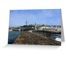 Porthleven From The Breakwater Greeting Card