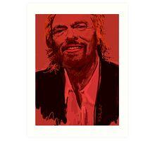 Branson in Red Art Print