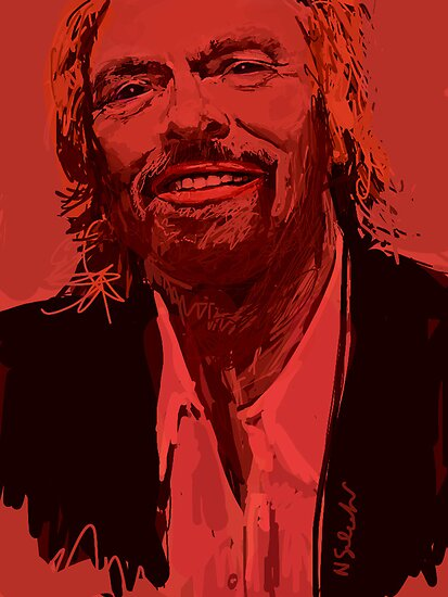 Branson in Red by Nigel Silcock