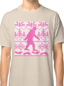 Gone Squatchin Ugly Christmas Sweater Knit Style Classic T-Shirt