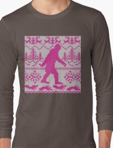 Gone Squatchin Ugly Christmas Sweater Knit Style Long Sleeve T-Shirt