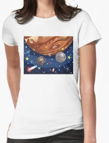 Jupiter Planet 4 Womens Fitted T-Shirt