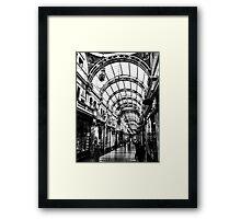 Leeds arcade Framed Print
