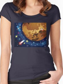 Venus in the Space 3 Women's Fitted Scoop T-Shirt