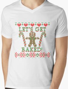 Let's Get Baked The Gingerbread Cookie Says Mens V-Neck T-Shirt