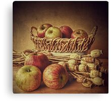 Old Master style  - Apples and Poppies Canvas Print