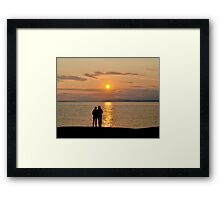 Miraculous Moment - Peggy's Cove Sunset Framed Print