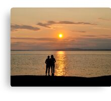 Miraculous Moment - Peggy's Cove Sunset Canvas Print