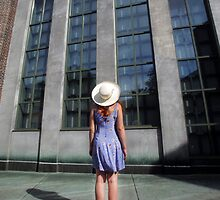 Woman in White Hat: Dartmouth University by Larry Turner