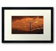 Sunset Charge Framed Print