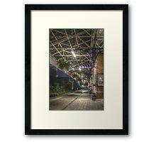 Poulton train station HDR Framed Print
