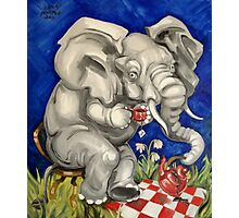Tea Party Elephant Photographic Print