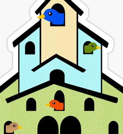 Tiered Bird House Sticker
